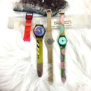 Vintage Swatch Watch Lot For Parts Or Repair